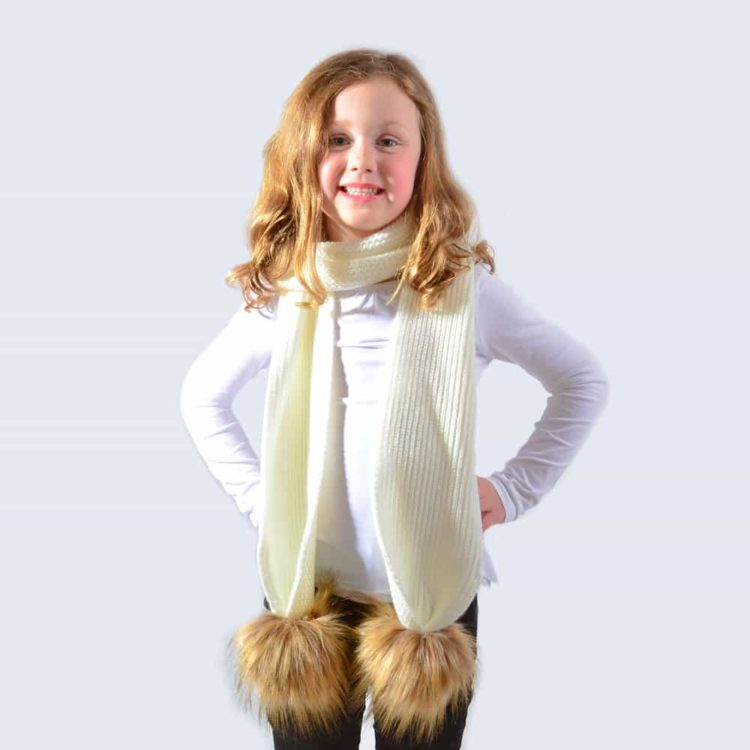 kids-scarf_ivory_faux_brown