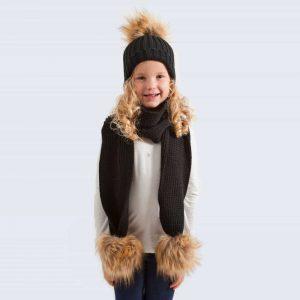 68c2c1d02ff Tiny Tots Faux Fur Pom Pom Sets » Amelia Jane London