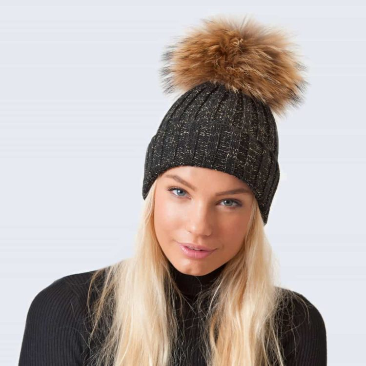 black with gold_glitter_Hat_real_model