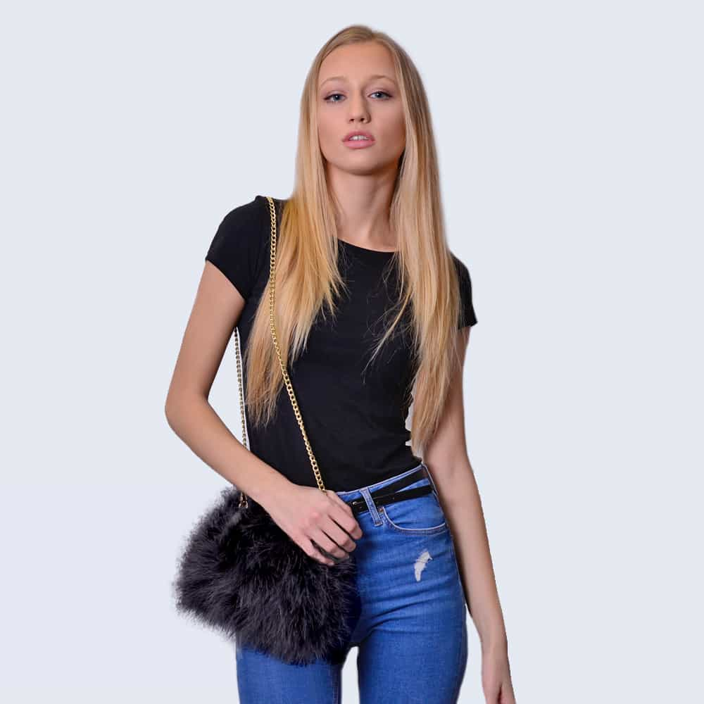 Feather Bag Midnight Black