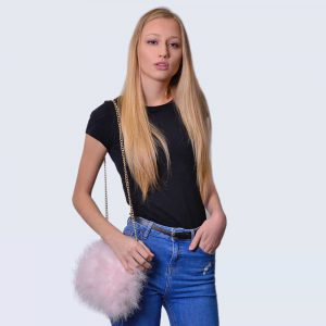 Feather Bag Candy Pink