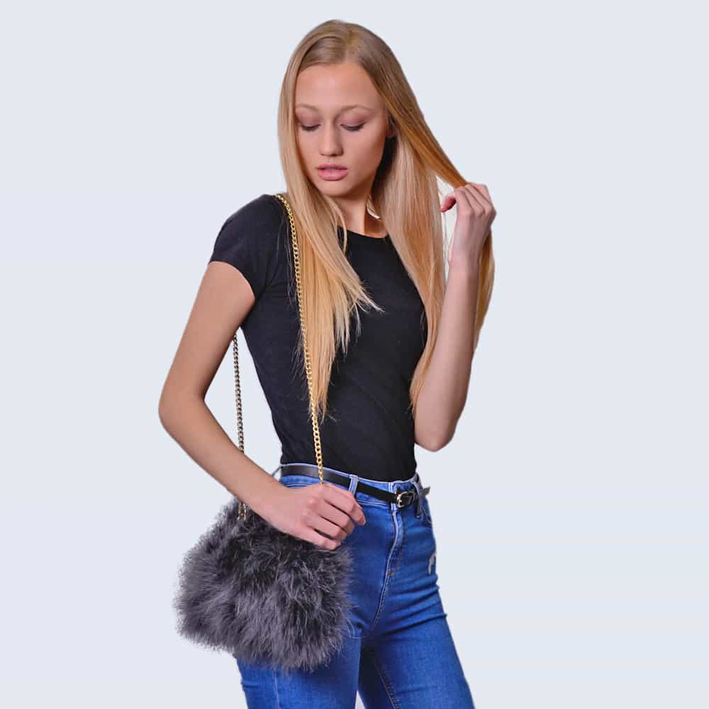 Feather Bag Clouded Grey