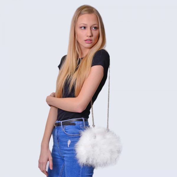 Feather Bag Alpine White