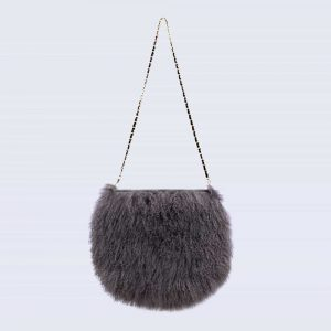 Mongolian Lambswool Bag Clouded Grey