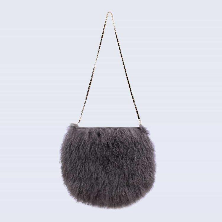 Mongolian Lambswool Bag Clouded Grey