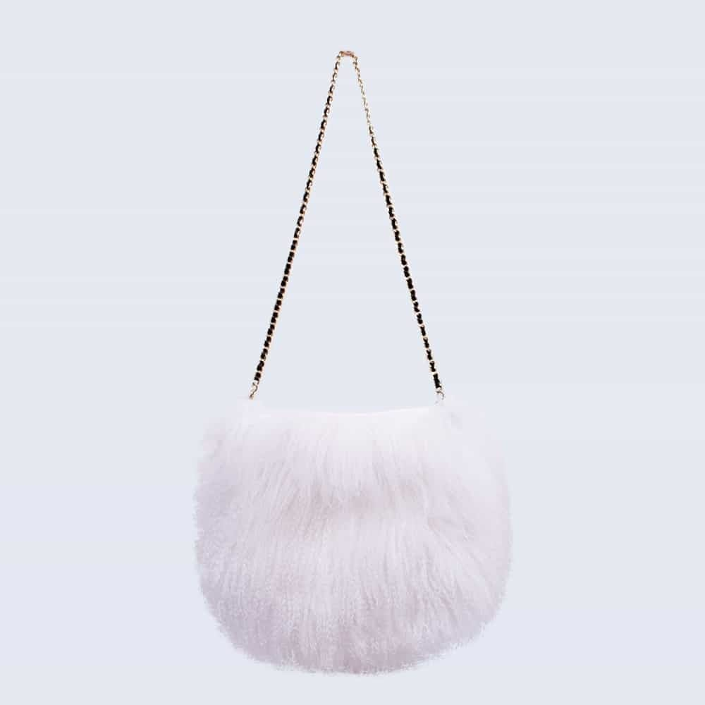 Mongolian Lambswool Bag Alpine White