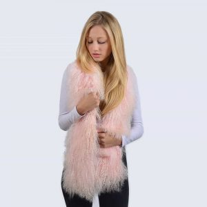 Candy Pink Mongolian Lambswool Scarf