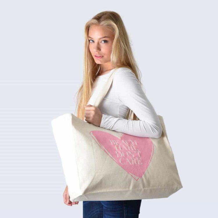 Candy Pink Beach Bag
