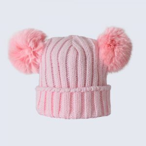 Tiny Tots Candy Pink Double Pom Pom Hat