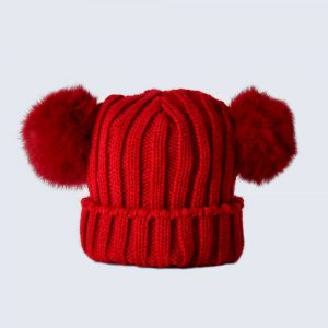 Tiny Tots Scarlet Double Pom Pom Hat