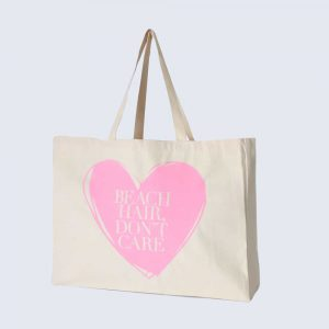 Candy Pink Beach Bag