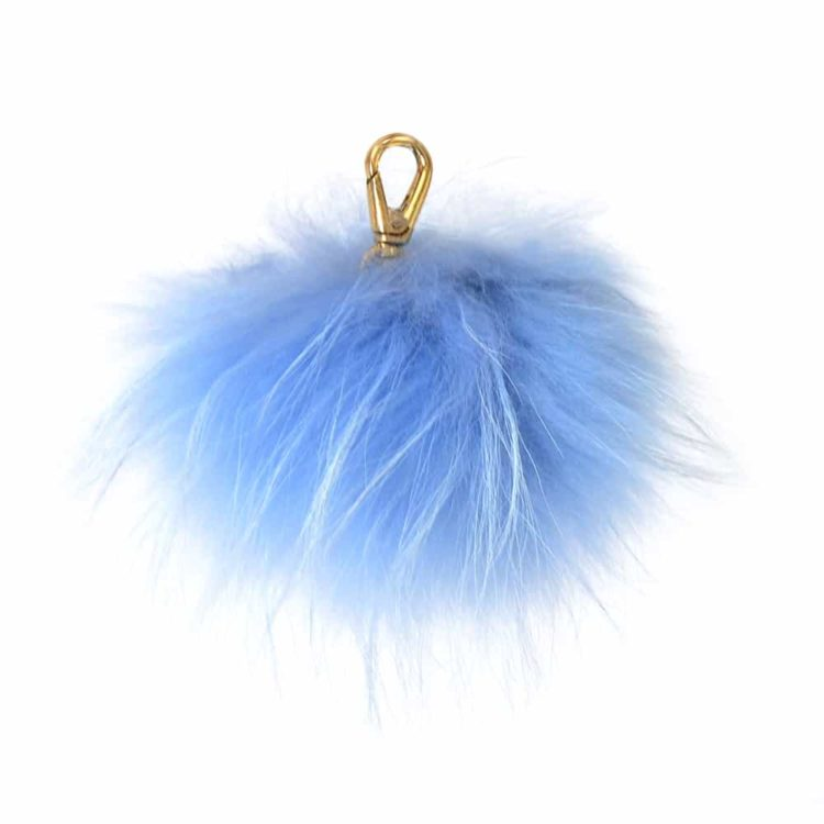 Sky Blue Pom Pom Key Ring