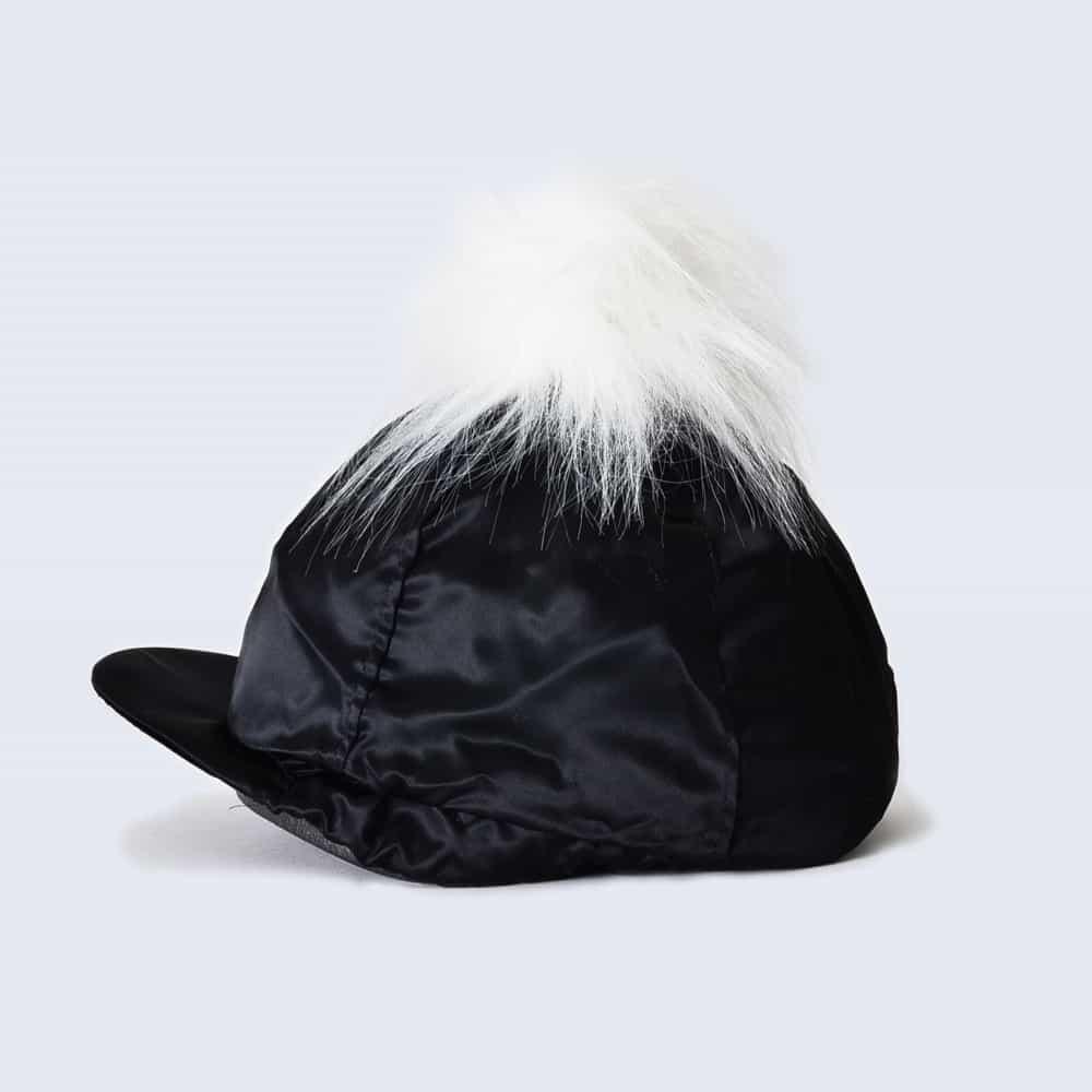 6c3ff0cbe79 Black Hat Silk with White Faux Fur Pom Pom » Amelia Jane London
