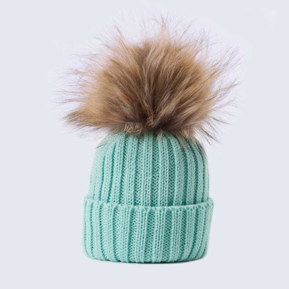 Tiny Tots Merino Wool Faux Fur Pom Pom Hat Mermaid Spell » Amelia ... 4ebe89bd541