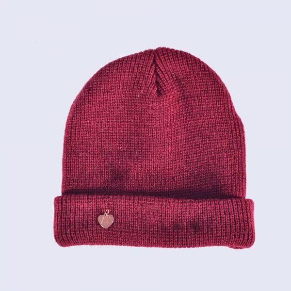Burgundy Beanie Hat » Amelia Jane London b9451c983ca