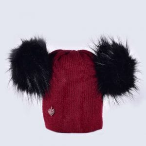 ab3b1e657ac Double Faux Fur Pom Pom Hats » Amelia Jane London