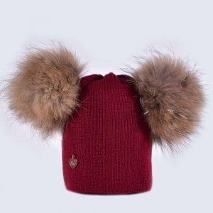 Double Fur Pom Pom Hats » Amelia Jane London e078113e875