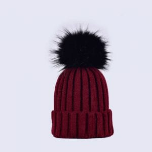 Faux Fur Pom Pom Hats » Amelia Jane London 84750bdc3b1b